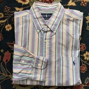 Polo Striped Button Down Men's